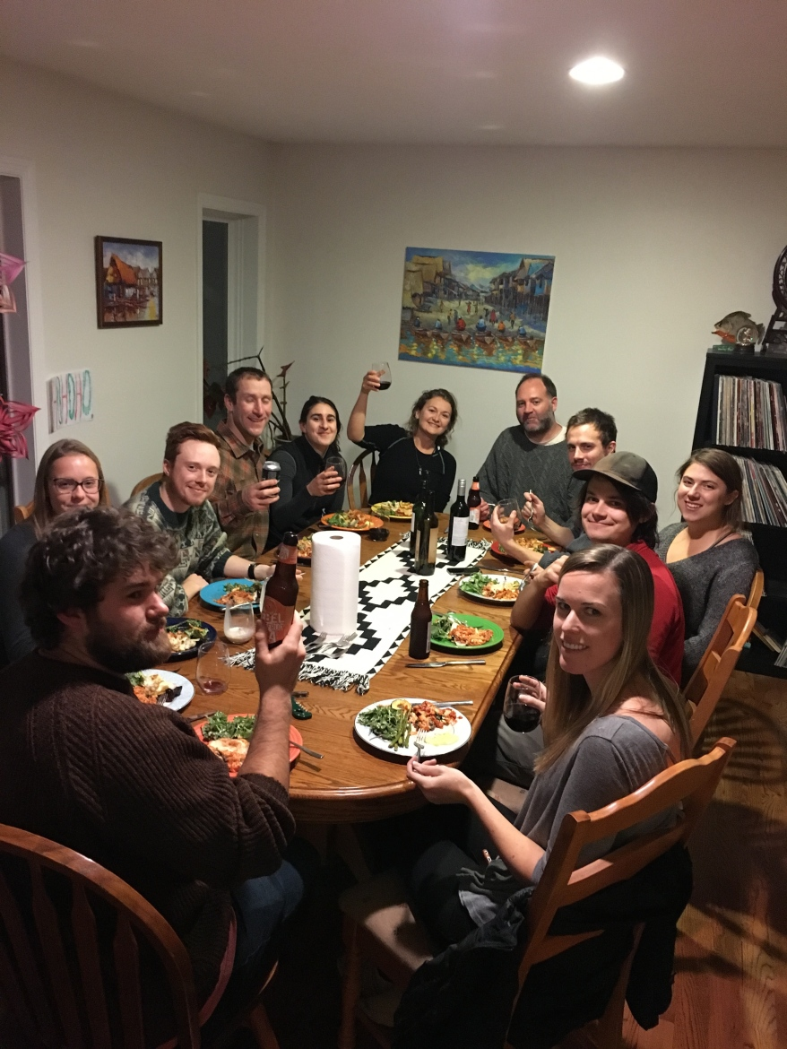 Hu Lab Holiday dinner